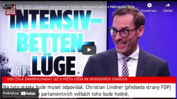 10.06.2021 hlášená vyčerpanost lůžek intenzivní péče v Německu byla v mnoha případech přehnaná